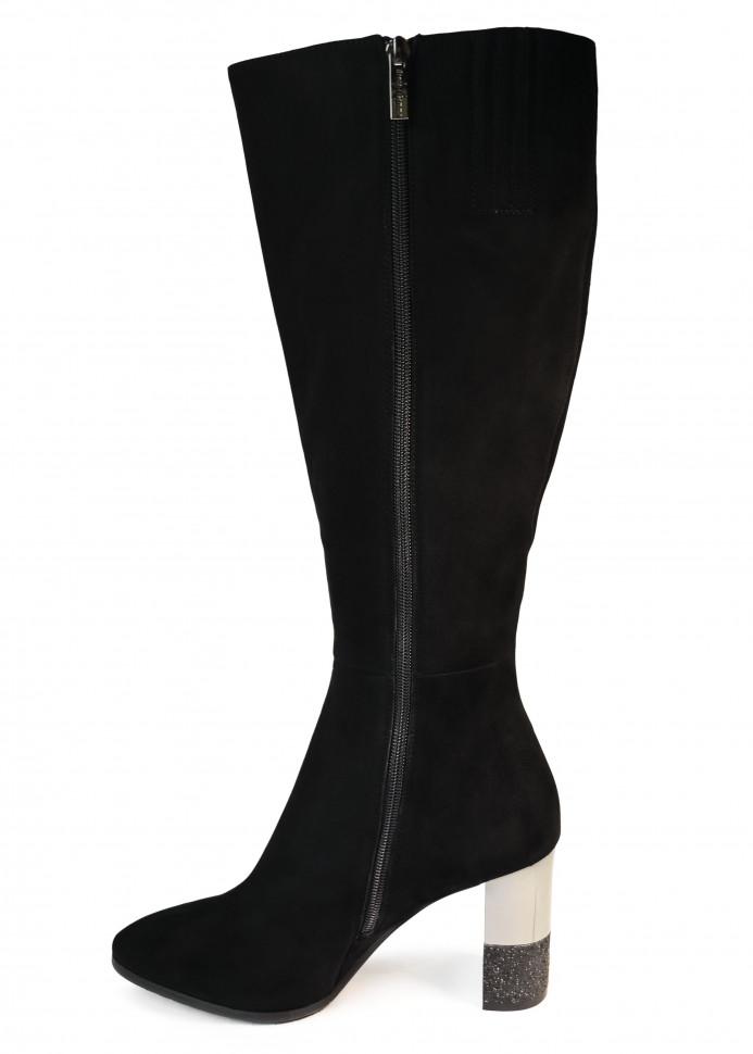 d86181664 Замшевые женские сапоги весна осень с узким носом Sinta Gamma. Высокий  каблук с зеркальным элементом. В целом очень женственная модель  классических осенних ...
